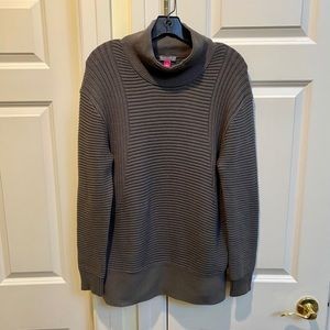 Vince Camuto Brown Mock Neck Oversized Sweater
